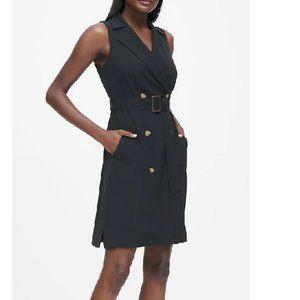 NWT BanRep Trench Dress 12 Black D450